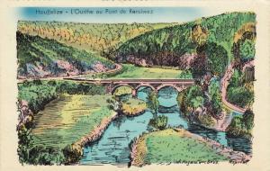 Houffalize, Belgium , 20-40s ; L'Ourthe au Pont de Rensiwez