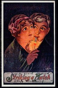 Striking a Match,Man Woman Romance Smoking