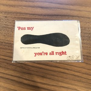 1907 'Pon My Foot You're All Right Postcard - VINTAGE - PC - POSTED