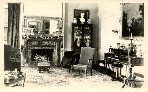 ME - Ellsworth. The Black House, Music Room    RPPC
