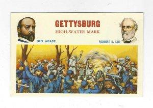 1950's/60's Gettysburg High-Water Mark Civil War Postcard