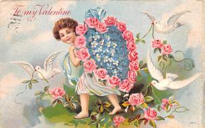 Valentines Day Post Card Old Vintage Antique 1908
