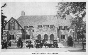 Midland County Court House, Midland, Michigan 1927 Vintage Postcard