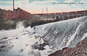 SPOKANE, Washington, 1900-1910s; Lower Falls