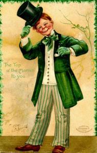 Greeting - St. Patrick's Day  -  Artist Signed: Ellen Clapsaddle