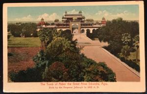 Postcard Unused Tomb of Akber (Akbar) Sikandra Agra India  LB