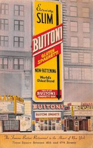 Advertising Post Card Buitoni Restaurant Times Square New York City USA Unused