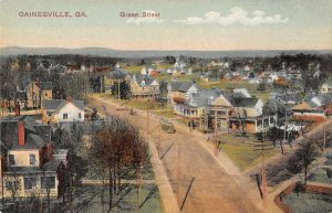 Gainesville Georgia Green Street Birds Eye View Vintage Postcard AA11631