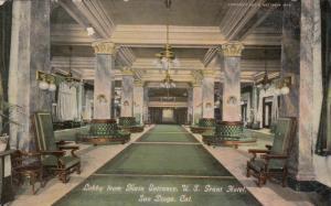 SAN DIEGO , California , PU-1913 ; Lobby , U.S. Grant Hotel
