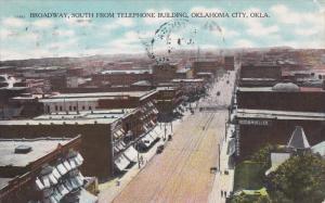Broadway , View from Telephone Bldg , OKLAHOMA CITY , PU-1910