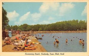 Kentucky Dam State Park~Swimming Beach Bathing Beauties~Lifeguard~1962 Postcard