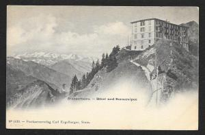 Stanserhorn Hotel on Bernese Alps Switzerland Unused c1904