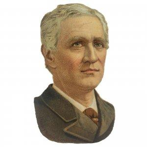 Antique Thomas Bayard Secretary of State Diecut Trade Card United State Senator