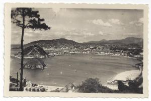 RPPC Spain San Sebastian from Iguedo Real Photo 1960
