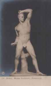 Creucante Roma Museo Vaticano Antique Italian Statue Sculpture Postcard