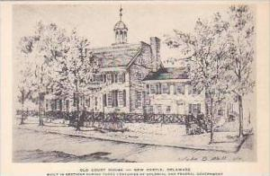 Delaware New Castle Old Court House Albertype