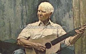 Carl Sandburg Oil Portrait Flat Rock NC Unused