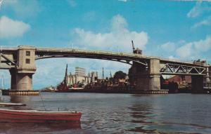 The Bridge, Riviere Richelieu, Sorel, Quebec, Canada, 40-60's