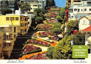USA Lombard Street Sandor Balatoni The Crookedest Street San Francisco