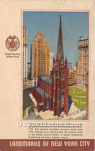 Trinity Church New York City NY 1945 Missing Stamp