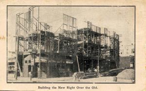 CA - San Francisco. April 1906 Earthquake & Fire. Building the New Right Over...