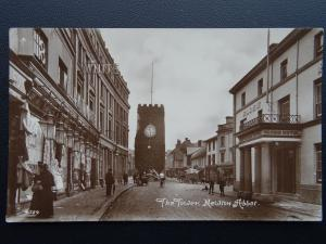 Devon NEWTON ABBOT Shows THE GLOBE HOTEL & WILLIAM WHITE DRAPERS Old RP Postcard
