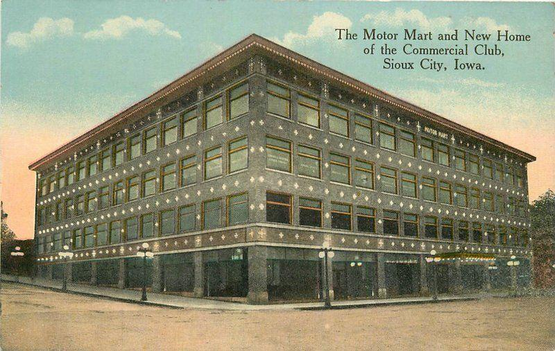 C-1910 Sioux City Iowa Motor Mart Commercial Club Hornick More Poterfield 6384