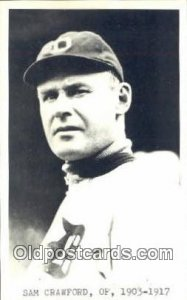 Sam Crawford Baseball Postcard Detroit Tigers Base Ball Postcard Post Card Un...