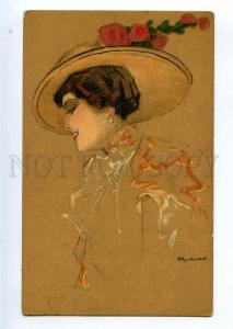234802 ART NOUVEAU Lady by Fritz RUMPF Vintage Gruner & Simon