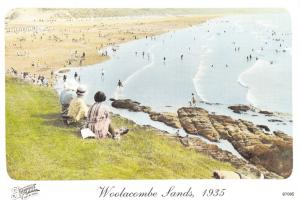 Woolacombe Sands, 1935, Francis Frith Reproduction Postcard #589