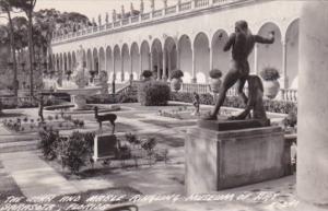 Florida Sarasota Court Yard John and Mable Ringling Museum Of Art Real Photo