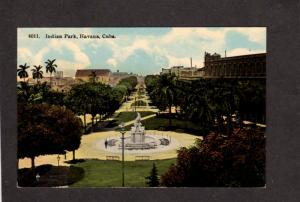 Republica of Cuba Indian Park Statue Havana Habana Postcard Tarjeta Postal