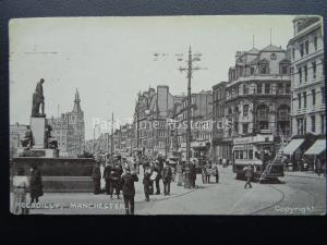 Manchester PICCADILLY c1906 Postcard