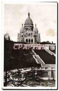 Old Postcard The Small Paintings of Paris La Basilique du Sacre Coeur in Mont...