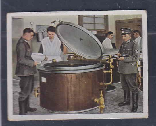 GERMANY TOBACCO CARD WWI 6x5 cms. MILITAR KITCHEN AAD5153