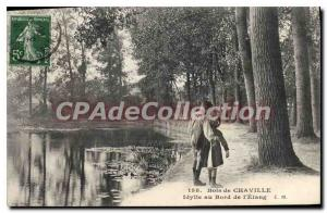 Postcard Old Wood Chaville Idyll at the edge of the Pond