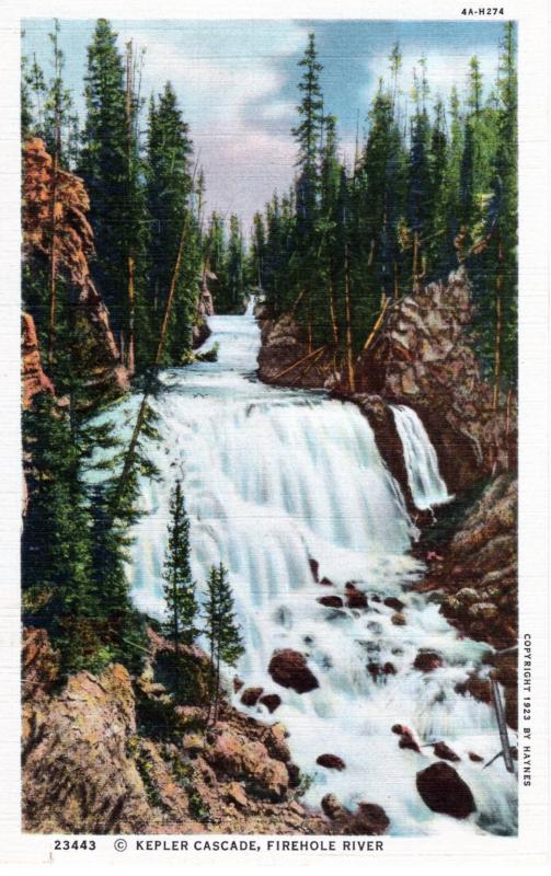 YELLOWSTONE NATIONAL PARK Haynes Linen Series. 23443.