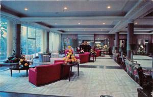 SAN ANTONIO TEXAS MENGER HOTEL LOBBY POSTCARD 1960