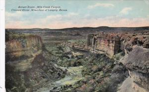 Texas Sunset Route Mile Creek Canyon Crossed Three Miles East Of Langtry Curt...