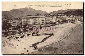 Old Postcard Nice Qaui The United States and L & # 39Embouchure Paillon View ...