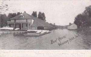 Indiana  Winona Lake Boat house