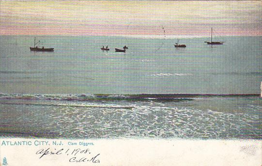 Clam Diggers Atlantic City New Jersey 1908 Tucks