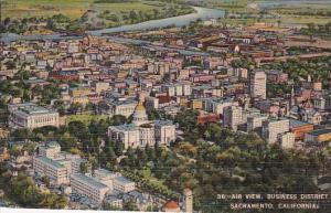 Air View Business District Sacramento California