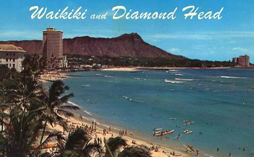 HI - Honolulu. Waikiki & Diamond Head