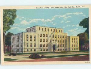 Unused Pre-1980 CITY HALL & COURTHOUSE Fort Smith Arkansas AR d2772