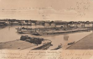 SACRAMENTO, California, PU-1907; River and Shipping