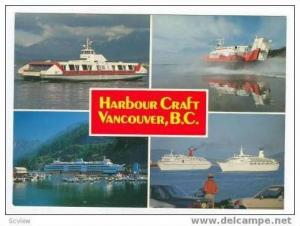 4 Views of Steamships, Harbour Craft, Vancouver, British Columbia, Canada, 40...