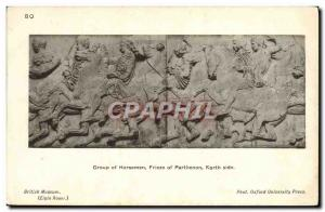 Postcard Old Horseman Of Group Of Parthenon Frieze North Side British Museum ...