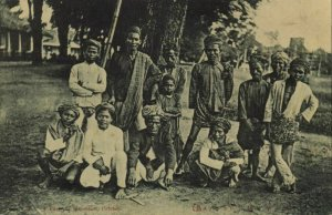 indonesia, CELEBES SULAWESI MAKASSAR, Group of Native People (1910s) Postcard