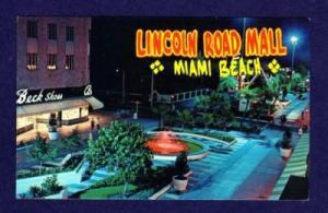 FL Night View Lincoln Road Mall MIAMI BEACH FLORIDA
